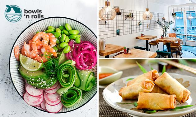 Poké bowl of salade + bijgerecht in hartje Leeuwarden