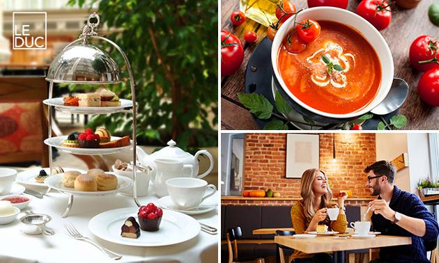 High tea + verse jus bij Brasserie Le Duc