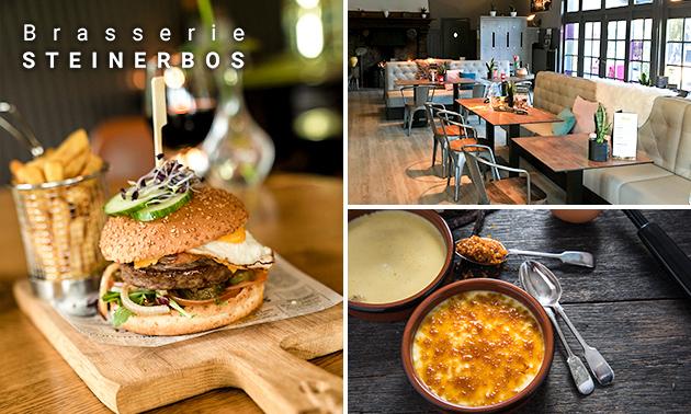 3-gangen keuzediner bij Brasserie Steinerbos