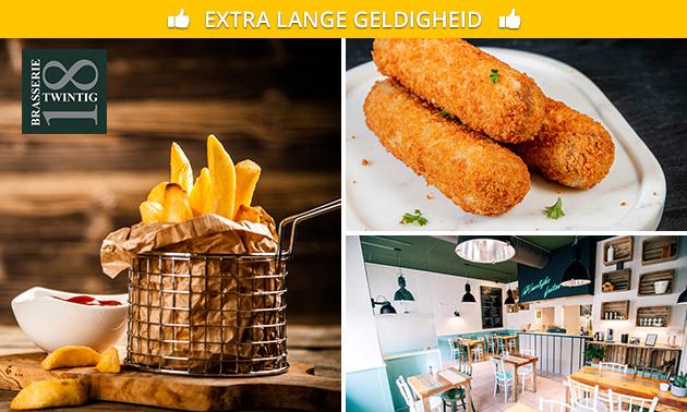 Afhalen: puntzak verse frites + saus naar keuze bij Twintig18