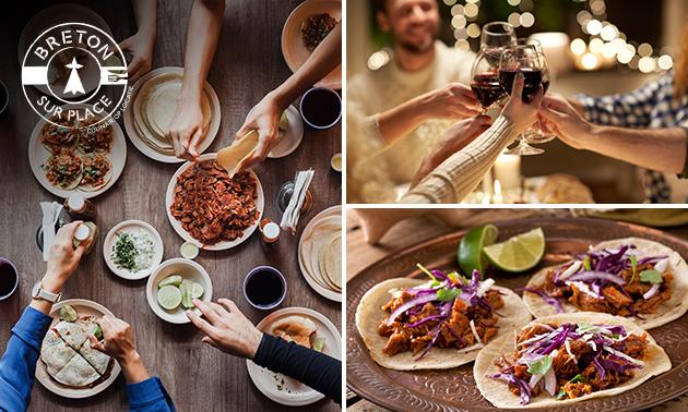 Thuisbezorgd of afhalen: shared dining (12 gerechten)