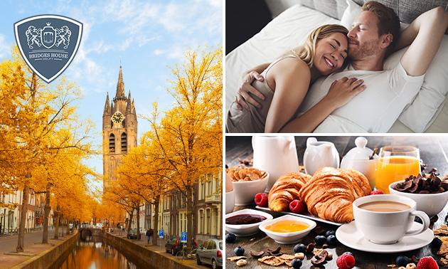 Overnachting voor 2 + ontbijt in hartje Delft