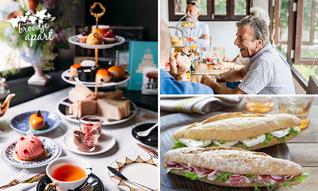 3-gangen high tea of 2-gangen keuzelunch bij Broodje Apart