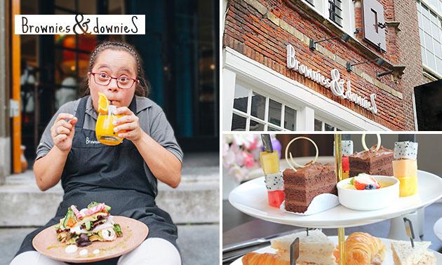 Mini-high tea bij Brownies & downieS