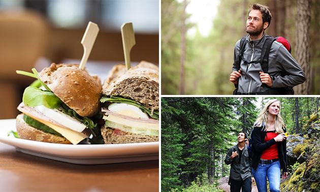 Wandelarrangement + gevulde picknicktas