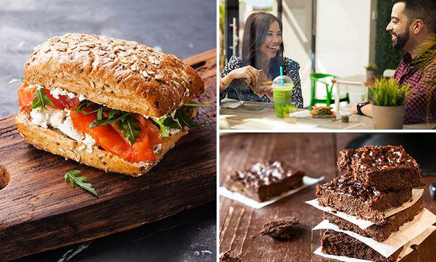 Afhalen: broodje naar keuze + smoothie + brownie