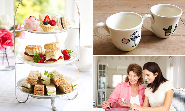 Workshop servies versieren + high tea (2,5 uur)