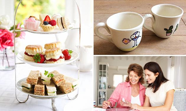 Workshop servies versieren + high tea (2,5 uur)