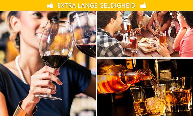Wijn-, bier- of whiskyproeverij in hartje Zwolle