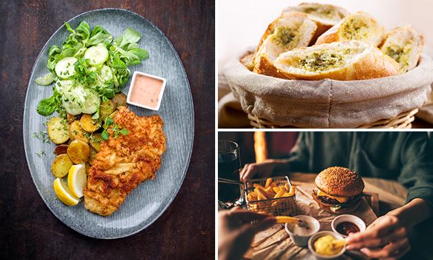 Afhalen: hoofdgerecht + brood bij Café De Oude Haven