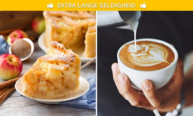 Warme drank + appelgebak in hartje Leeuwarden