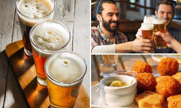 3 glazen (speciaal)bier naar keuze + borrelgarnituur