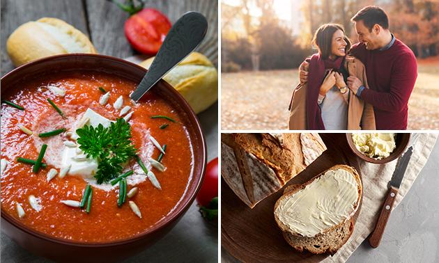 Wandelarrangement + soep + broodplank bij Aan de Kirk