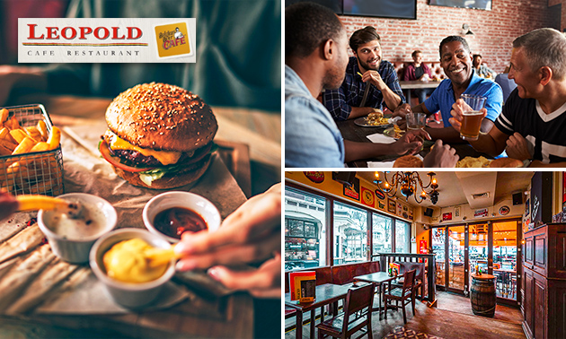 3-gangen keuzediner bij Café Restaurant Leopold