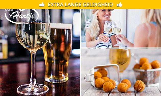 Borrelplank + drankje voor 2 in hartje Alkmaar