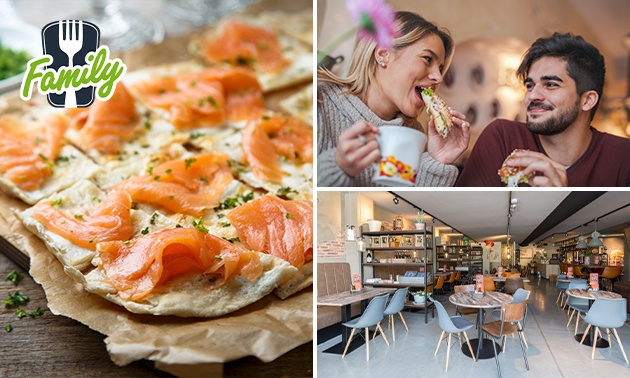 Lunchgerecht naar keuze bij Cafetaria Brasserie Family
