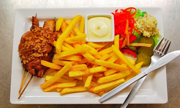 Afhalen: snackmenu + fris naar keuze