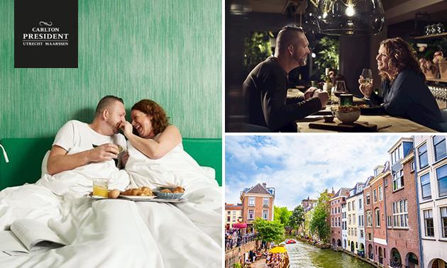 Overnachting voor 2 + diner + ontbijt + parkeren in Utrecht
