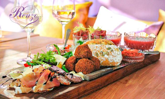 Luxe lunchplank bij Restaurant Renzo
