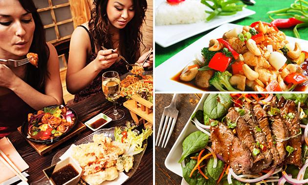 Rijsttafeldiner Chinees Indisch Restaurant Azië