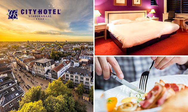 Hotelovernachting + ontbijt voor 2 nabij Assen