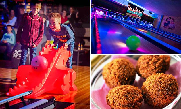 1,5 uur bowlen voor 6 personen + bitterballen bij Claus Bowling