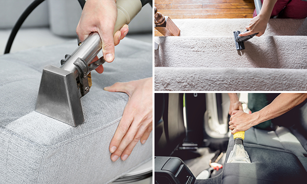 Professionele reiniging gestoffeerde meubels of trap