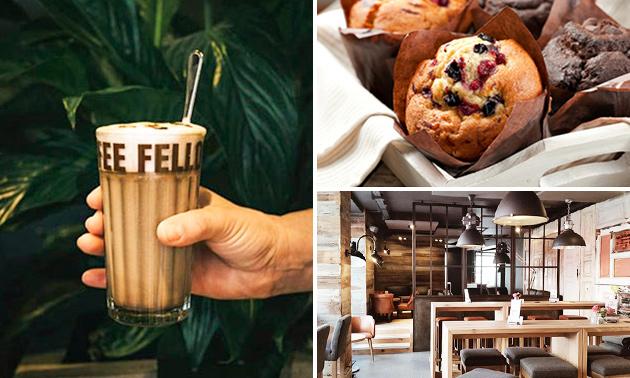 Koffie + muffin naar keuze bij Coffee Fellows