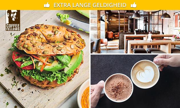 Bagel + drankje naar keuze bij Coffee Fellows Enschede