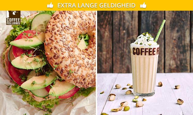 Afhalen: bagel + drankje bij Coffee Fellows Hilversum