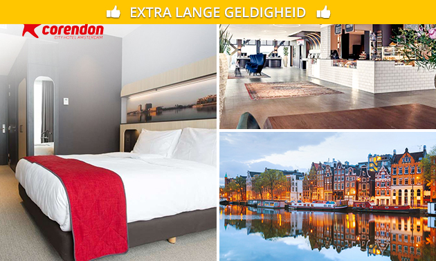 Overnachting + ontbijt + diner voor 2 bij Corendon City Hotel Amsterdam