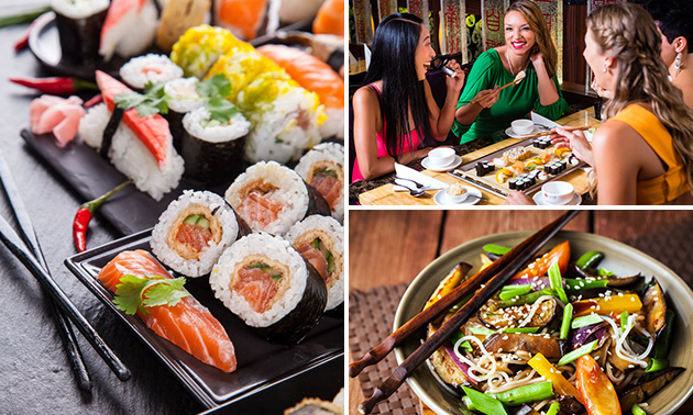 All-You-Can-Eat sushi (3 uur) + koffie/thee