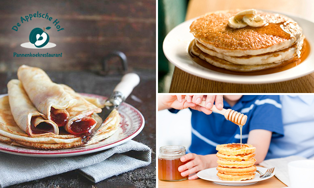 All-You-Can-Eat pannenkoeken + voor- en nagerecht