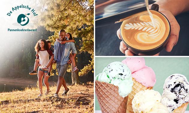 Puzzelroute + koffie/thee en gebak + broodjes + ijs