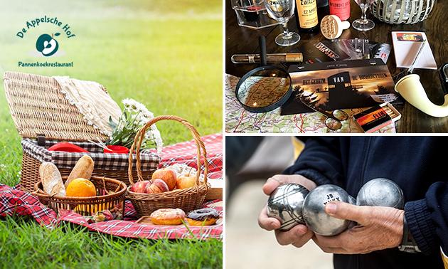 Escapegame (3 uur) + picknickmand + spel naar keuze (2 of 2,5 uur)