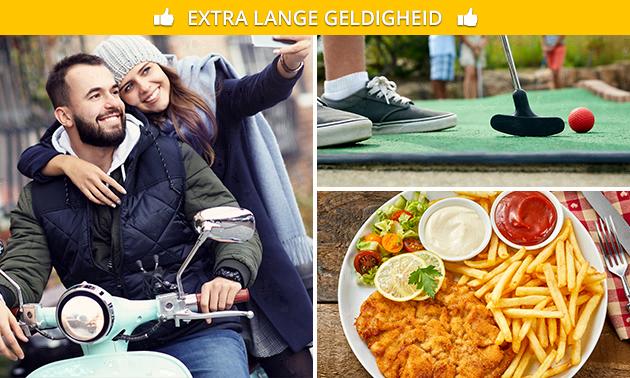 Scooterhuur (4 uur) + midgetgolf + 2-gangenlunch of -diner