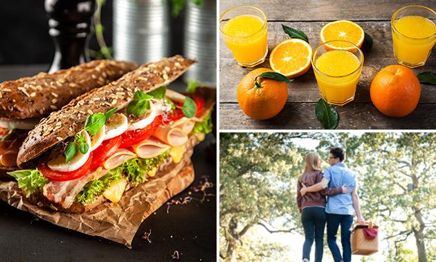Wandelarrangement + compleet lunchpakket