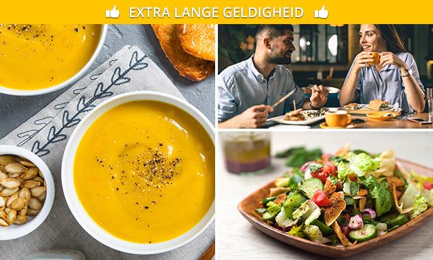 3 huisgemaakte soepen + 3 gerechten bij De Gulle Lach