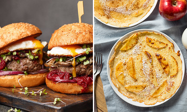 Thuisbezorgd of afhalen: 2, 3 of 4 pannenkoeken of burgers