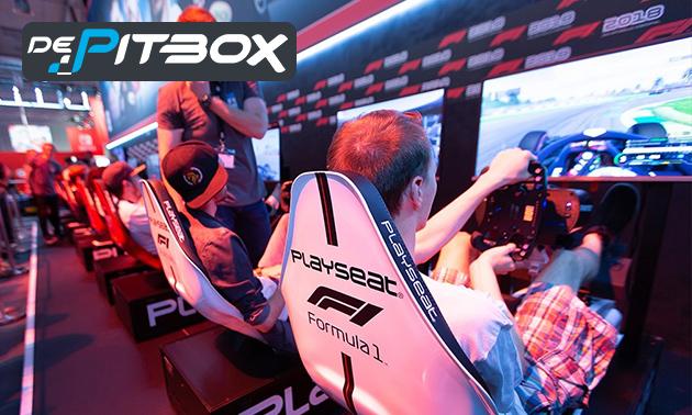 1 uur racen in F1-simulatie + evt. snack + blikje fris