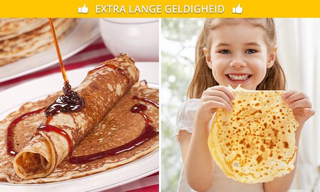 Afhalen: 2, 3 of 4 pannenkoeken met 2 toppings