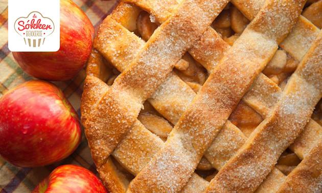 Ambachtelijke appelvlaai van De Sókkerbekkerie