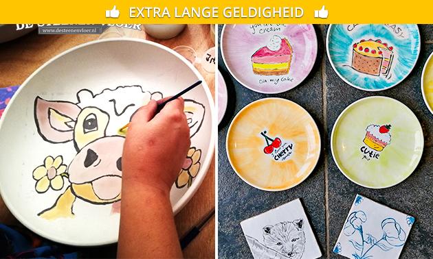 Workshop keramiek schilderen (1,5 of 3 uur)