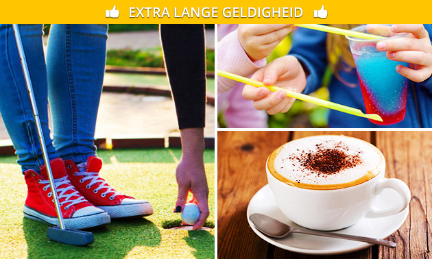 Midgetgolf + Slush Puppie, koffie of thee