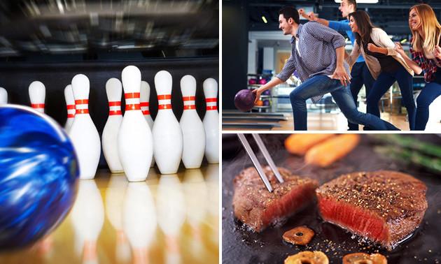 Bowlen (1 uur) + steengrillen bij De Waerd Bowling & Events