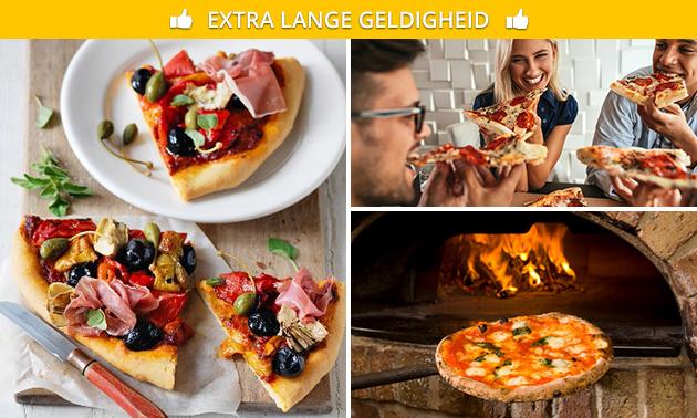 Pizzadiner met zelfgemaakte pizza's