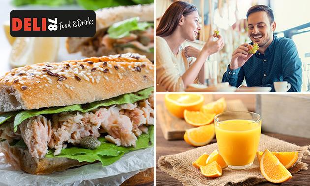 Afhalen: broodje naar keuze + jus d'orange
