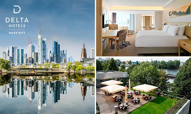 1 of 2 overnachtingen + ontbijt voor 2 nabij Frankfurt