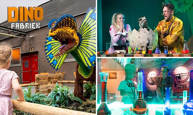 Entree voor 'De Dino Experience' + theatervoorstelling