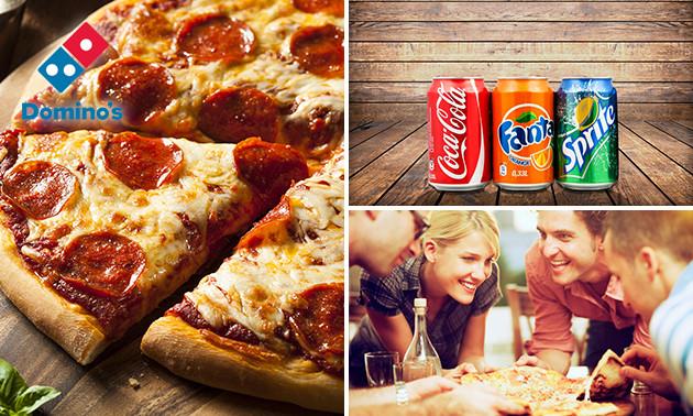 Bij Domino´s Pizza een pizza + fris